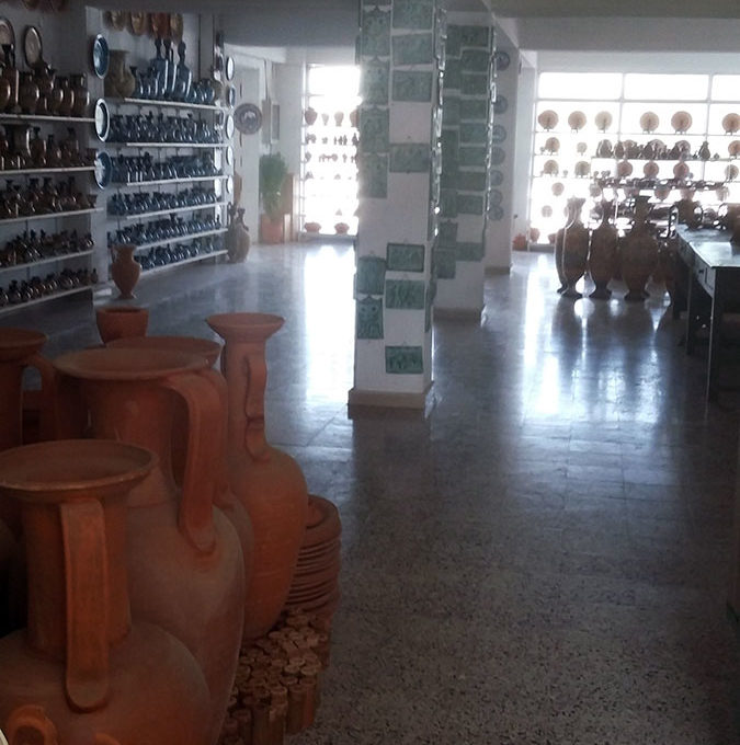 first floor ceramic shop