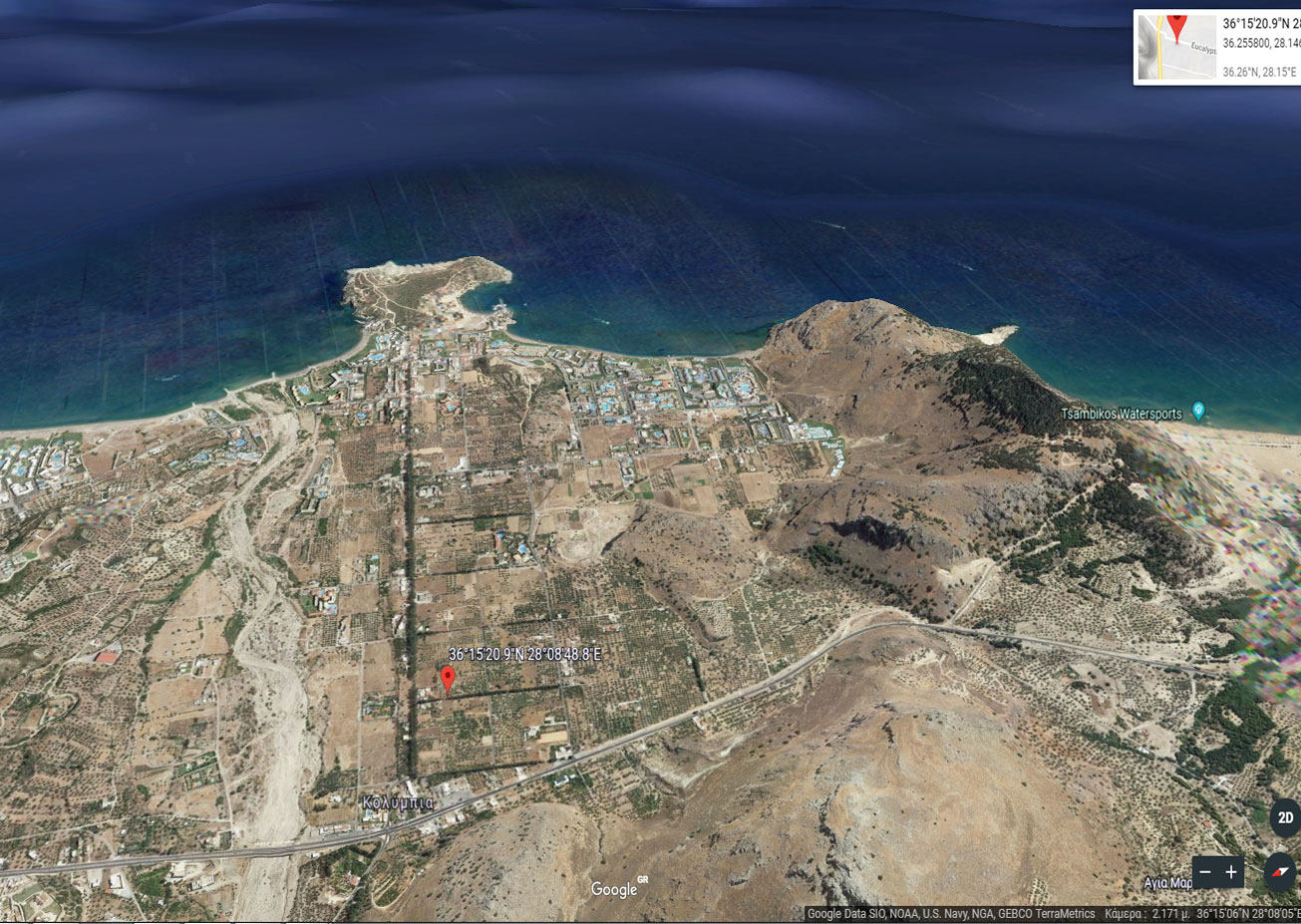 Prevent and acquire a plot of land on the island of Rhodes…